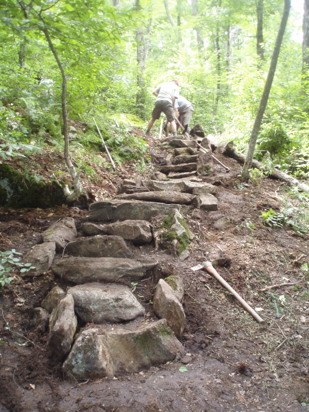 Rock Steps: Fun In The Woods--Massachusetts AT Committee Project Blog