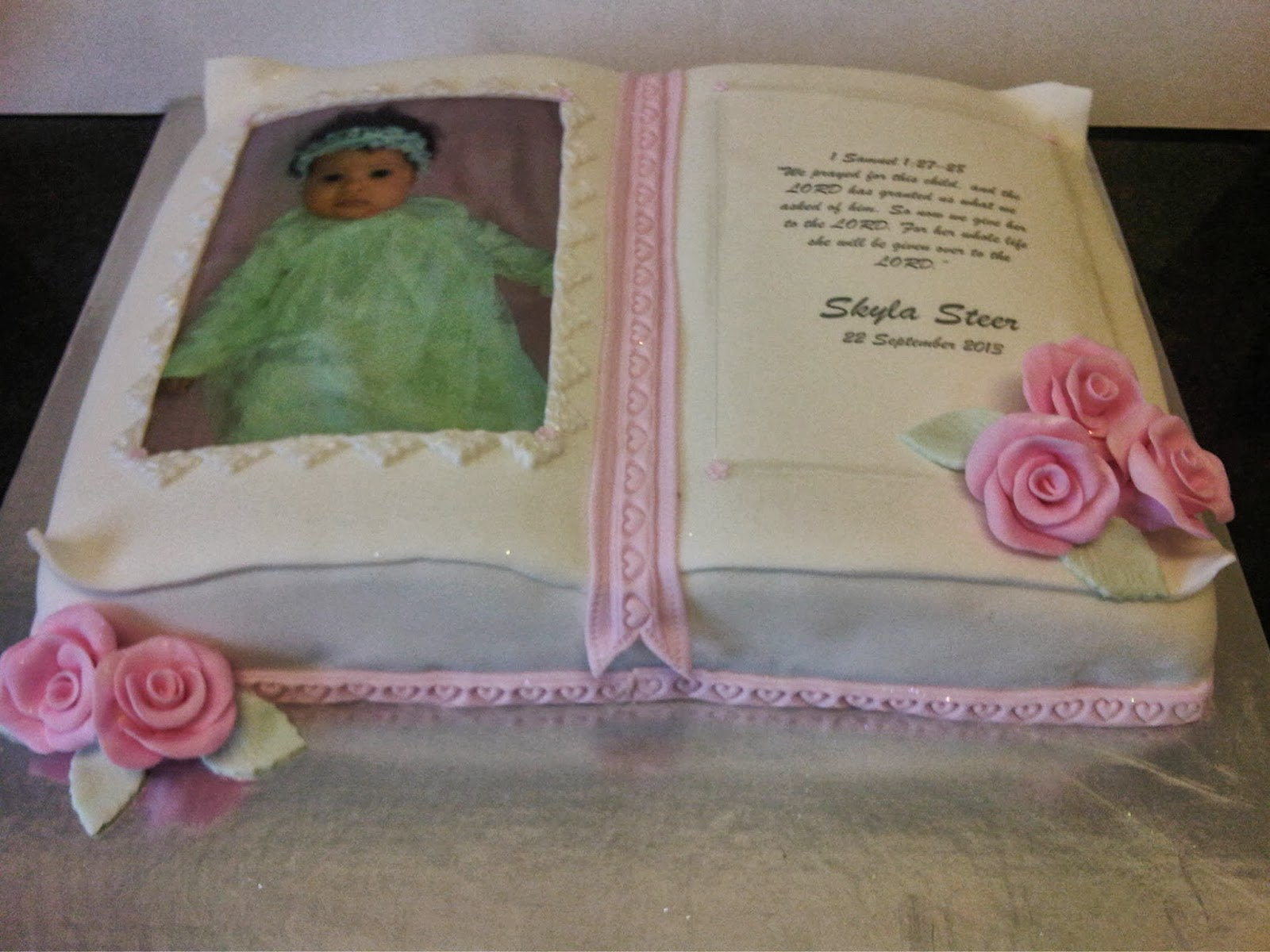 welcome to just iced christening bible cake