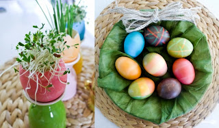 test and video about Easter, decoration of Easter eggs