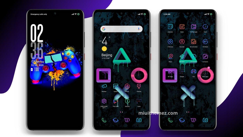 Black Game V11 MIUI Theme
