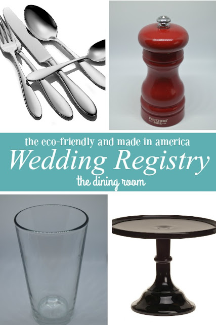 eco-friendly and made in america wedding registry- the dining room