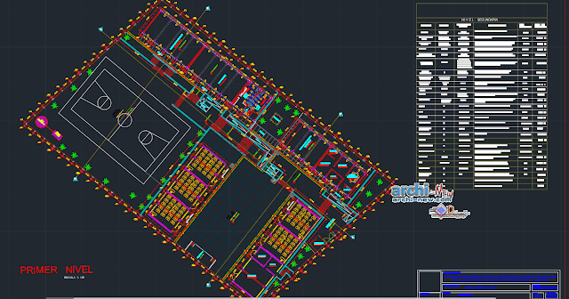 Improving the secondary education service of the educational institute in AutoCAD