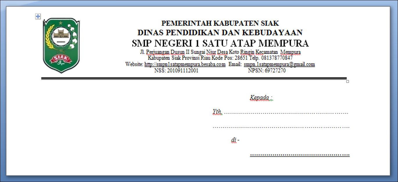 Format Amplop Surat Resmi Doc Surat Ll