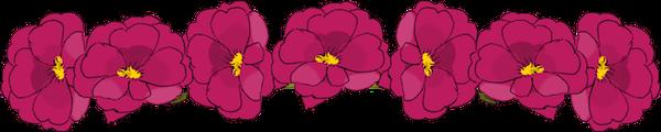 floral doodle border