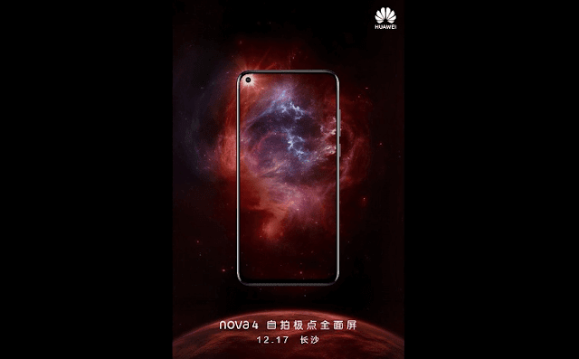 Huawei Nova 4 with in-screen selfie camera to Launch on December 17 in China