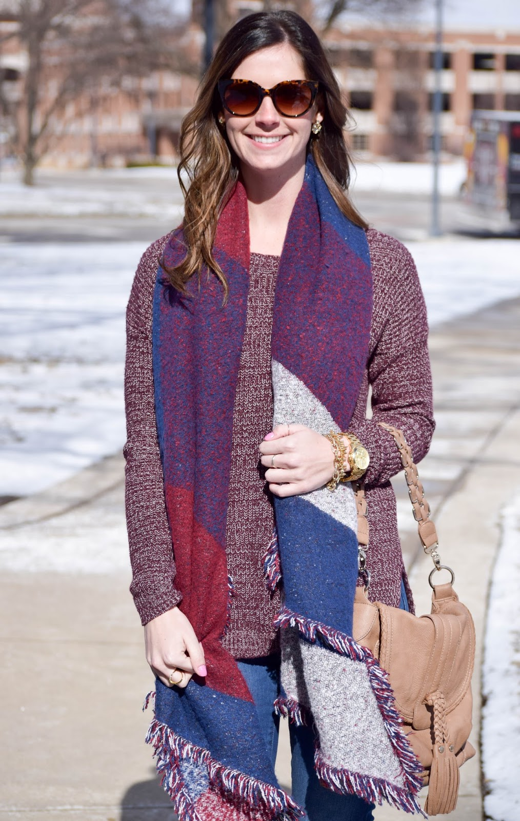 Purple Sweater   Scarf | Style & Sequins
