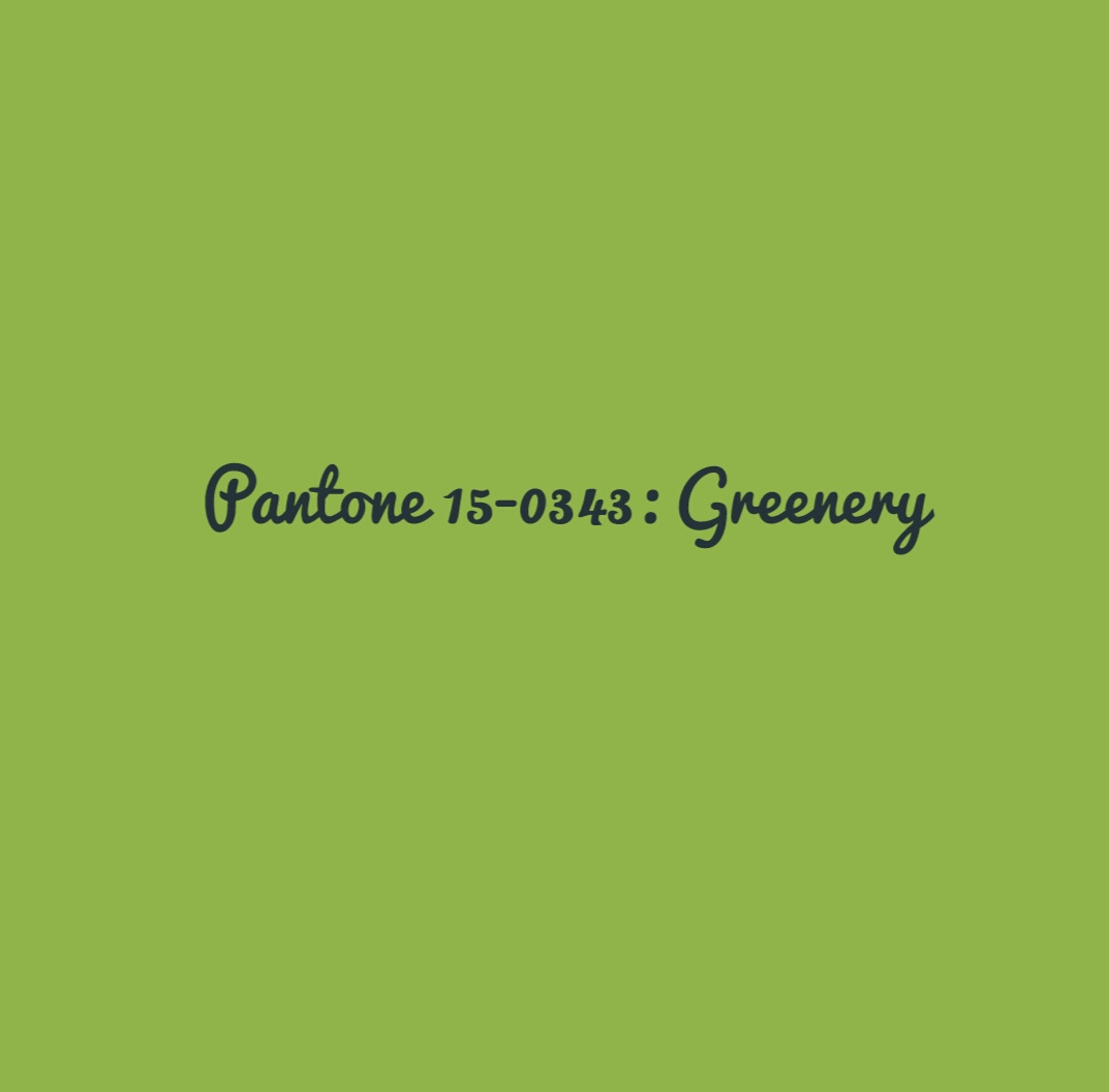 Greenery Pantone 2017 Color Of The Year Pantone Greenery Mrs A