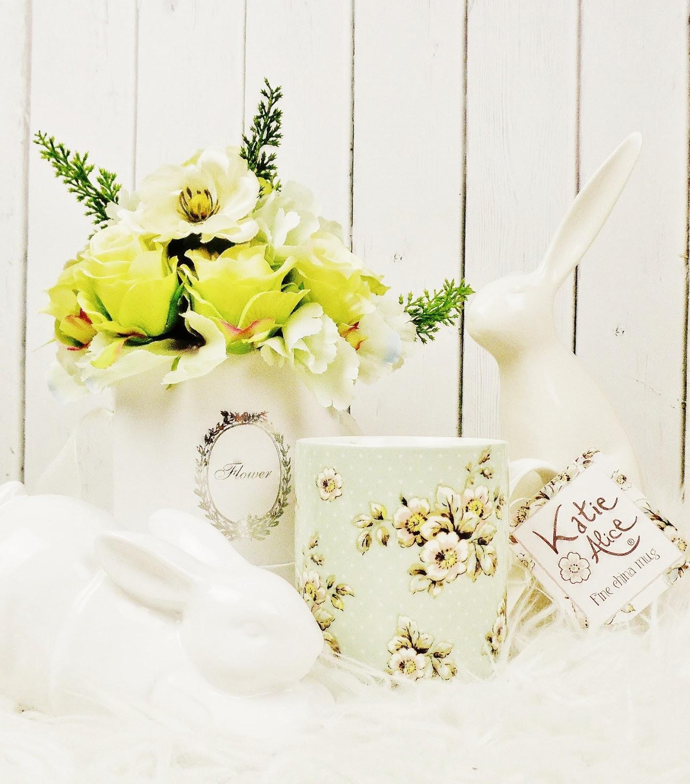 kubek Katie Alice zając wielkanoc wiosenne inspiracje flowerbox