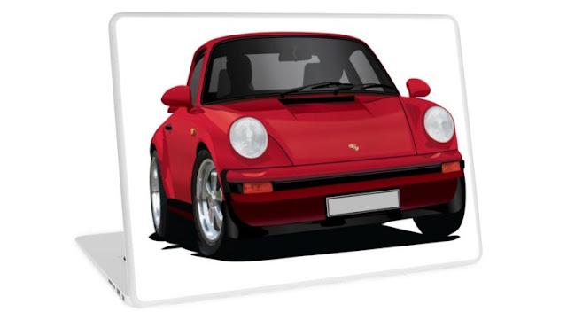Porsche 911 classic laptop sticker
