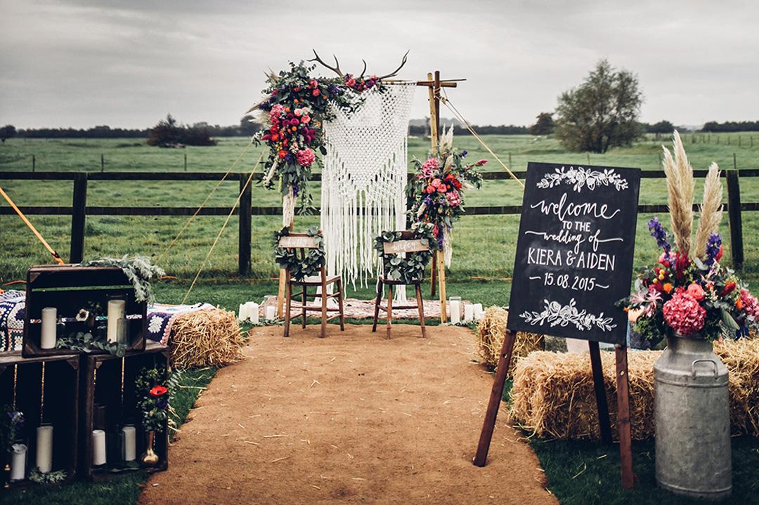 Inspiración para una boda de estilo boho