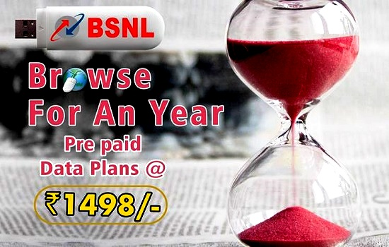 BSNL relaunched Double Data Offer on Prepaid Annual 3G Data STVs up to 31st March 2017 on PAN India basis