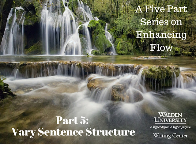 The title image for the Vary Sentence Structure blog post.