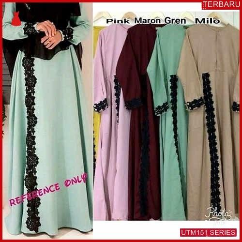 UTM151S78 Baju Sl Muslim Olive Dewasa Maxi UTM151S78 097 | Terbaru BMGShop