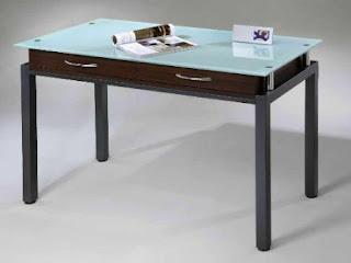 Attrayant Study Glass Top Writing Desk