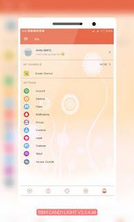 BBM MOD CandyLight Apk v3.3.4.48 Full Fitur Terbaru