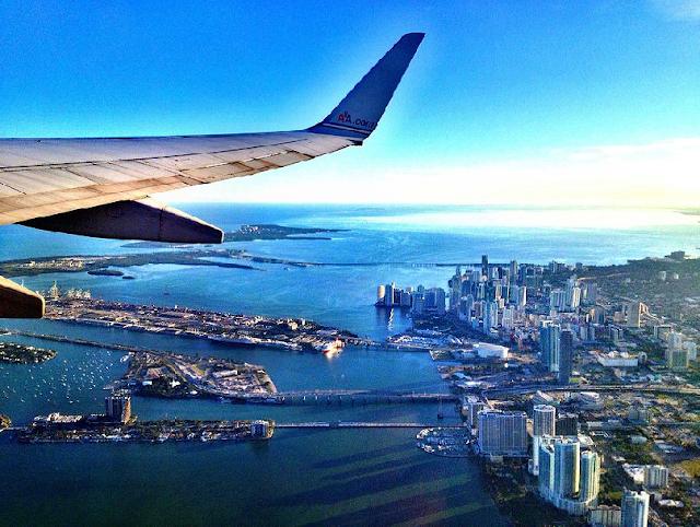 Tempo de viagem de avião até Miami