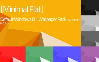 Wallpaper: Minimal Windows 8.1 Pack