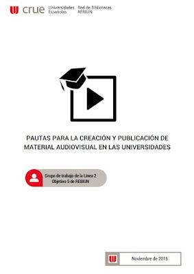"""Rebiun: """"Pautas sobre creación, publicación y licencias de material audiovisual, y sus Infografías""""."""