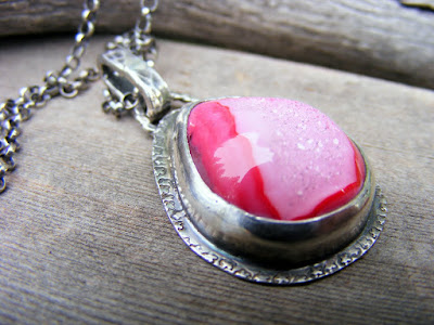 pink druzy quartz