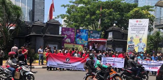 Kejagung Didemo Massa Pertanyakan Kasus KTP-El Diduga Libatkan Ketua KPK