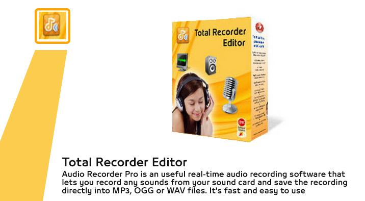 برنامج total recorder editor لتسجيل الصوت من الكمبيوتر اخر اصدار 2016