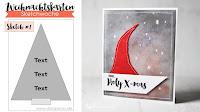 Kartenwind : Weihnachtskarte zur Weihnachtskarten-Sketchwoche von www.danipeuss.de #kartenwind #hohoho #weihnachtskarte #weihnachten #christmascard #cardmaking #danipeuss #weihnachtskartensketchwoche