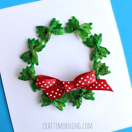 macaroni wreath