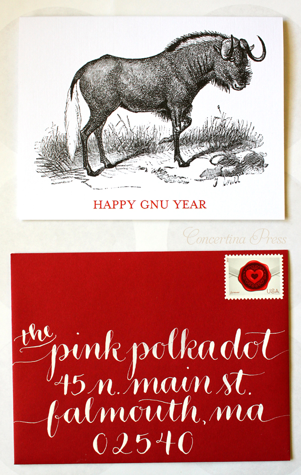 Gorgeous New Years Card Calligraphy on Red Envelopes by Letter Be On Etsy