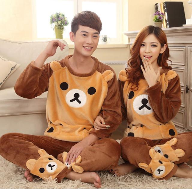 Baju Tidur Couple Lucu Bahan Flanel Murah Tanah Abang