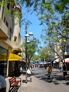 Nahalat Benyamin Pedestrian Mall Tel Aviv Israel