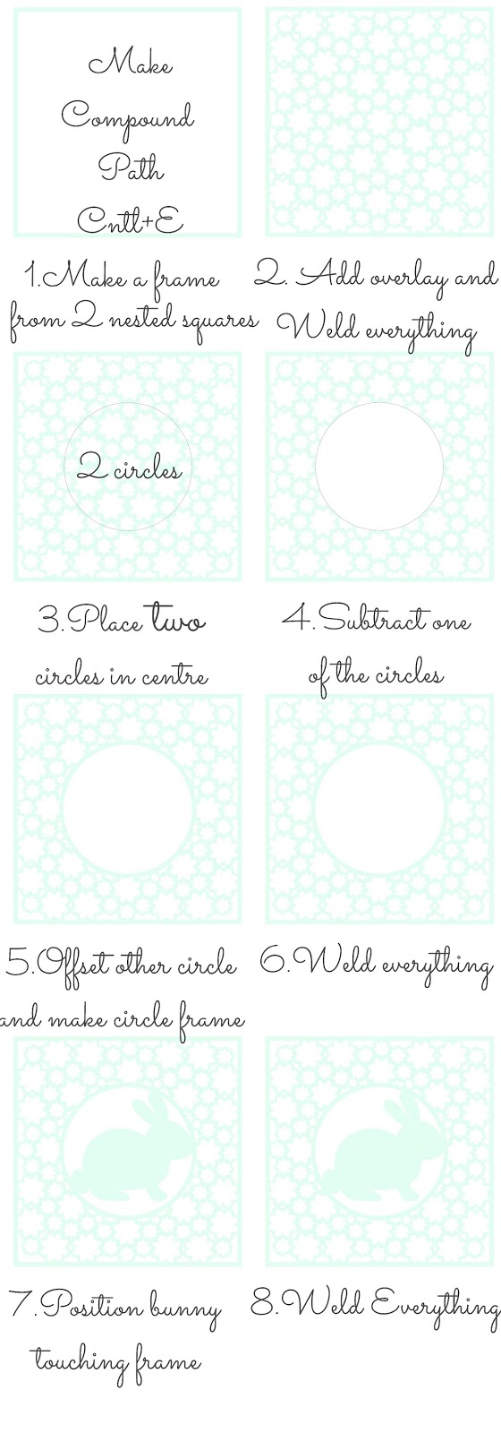 Filigree fill step my step Silhouette tutorial by Nadine Muir for Silhouette UK blog
