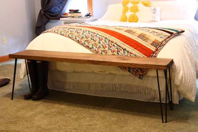 This Young House: Building a Hairpin Leg Bench