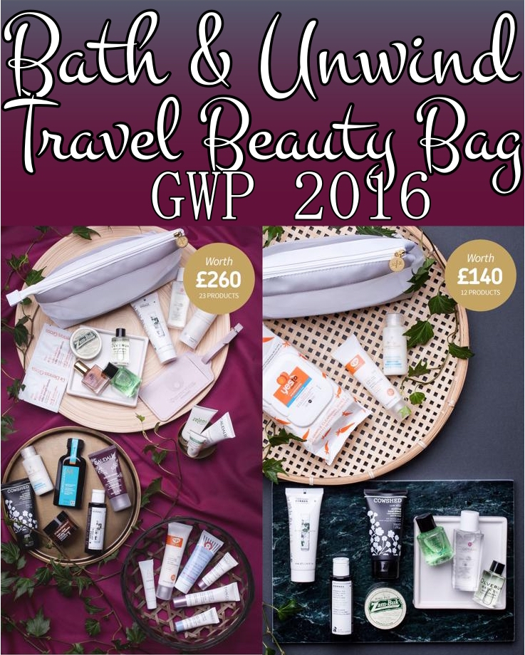 The Bath & Unwind Perfect Travel Beauty Bags for Holiday 2016 ship worldwide