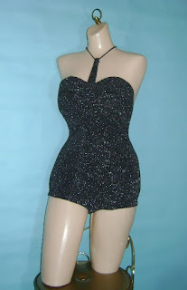 Black Catalina Masterpiece swimsuit on mannequin