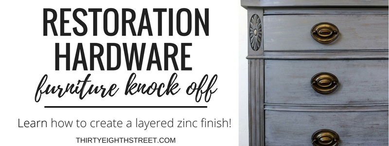 zinc paint finish, layered paint finish, painted furniture, furniture ideas, furniture tutorials, before and after furniture makeovers, how to layer paint, painting technique, restoration hardware faux finish, restoration hardware knock off