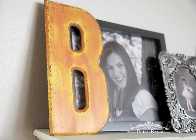 Marquee Letters Painted Orange Fusion Gilding Paste, Bliss-Ranch.com
