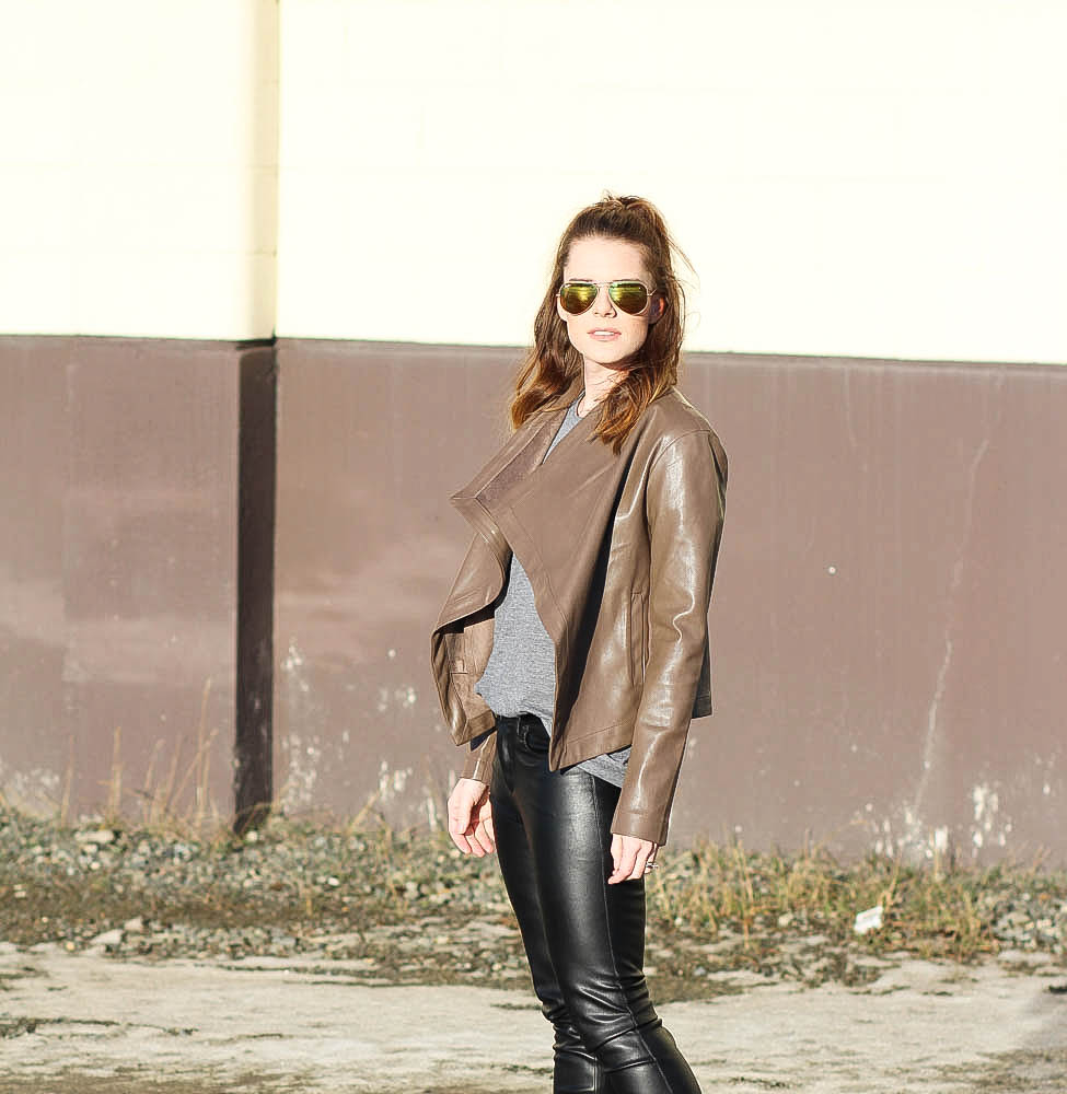 Leather Jacket and Leather Pants