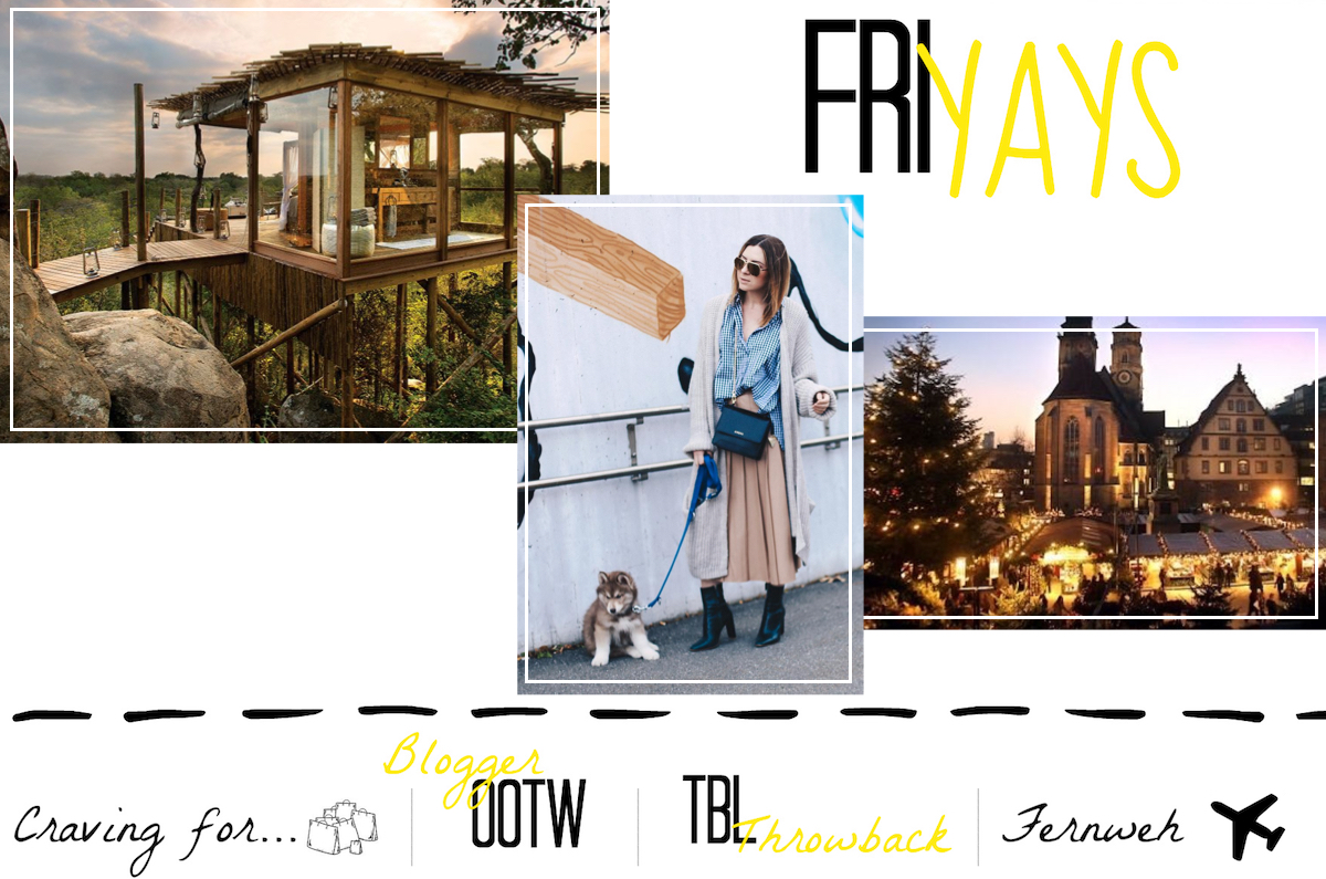 Friyays 10 Dreamplaces Wanderlust Blogger Outfit of the week Weihnachtsmarkt