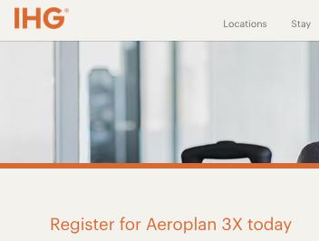 Earn Triple Aeroplan Miles On All Ihg Hotel Stays Until April 30