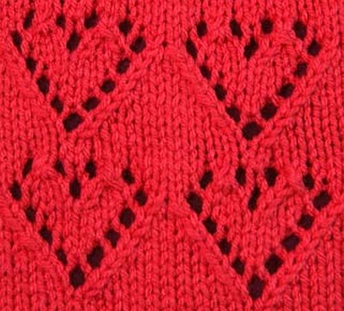 Heart Motif Knitting Pattern - Bing images