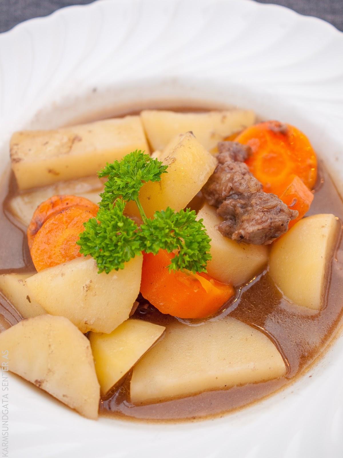 Gryterett med oksekjøtt og poteter