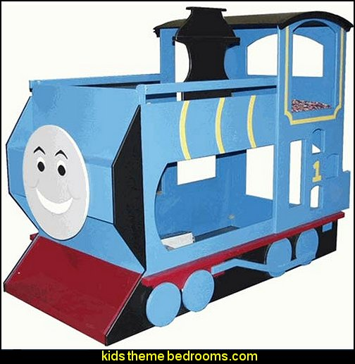 Train Bunk Bed  Train themed bedroom decorating ideas - boys bedroom train theme decor - train themed beds - train themed furniture - train theme bedding - train theme decorations - Thomas the tank bedroom - Thomas the tank theme bed