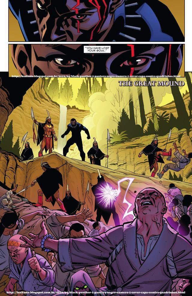 BLACK PANTHER #1 PANTERA NEGRA Número 1 By Ta-Nehisi Coates & Brian Stelfreeze - Desenhos Drawings Comics Revista em Quadrinhos - INVASÃO