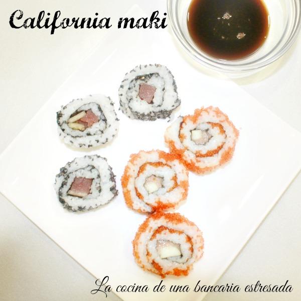 Receta de sushi: california maki