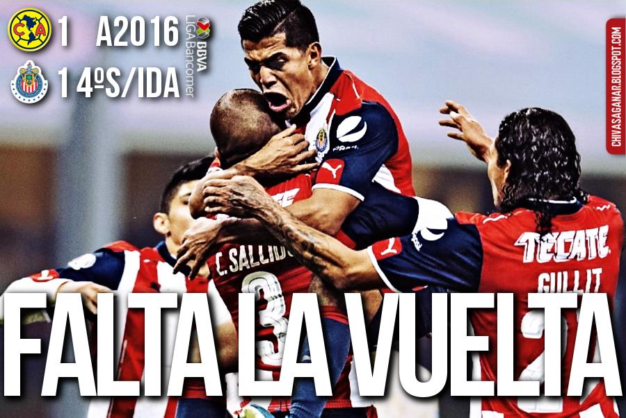 Liga MX : CF América 1-1 CD Guadalajara - Apertura 2016 - Cuartos - Ida.
