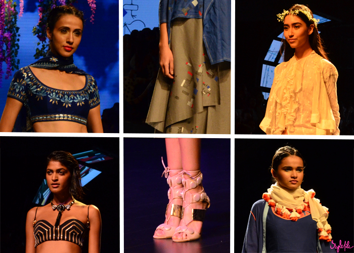 Indian designers [Ka][Sha], Pero, Anita Dongre and Shivan & Narresh display fashion garments and clothing at Lakme Fashion Week Summer Resort 2016 captured by Style File at St. Regis Mumbai