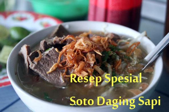 cara membuat resep soto daging sapi jawa tengah