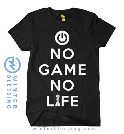 Jual Baju Kaos NGNL No Game No Life Hitam Anime Store Indonesia