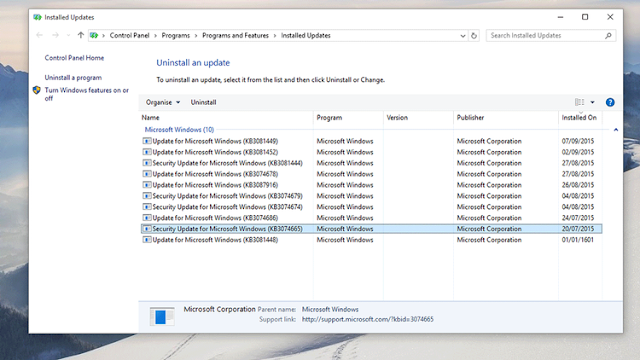 update drivers di windows 10