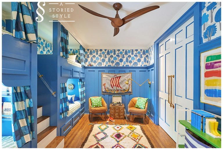 one room challenge blue kids children space